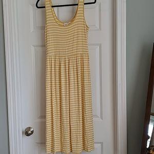 Gap Factory striped tank midi dress, size medium